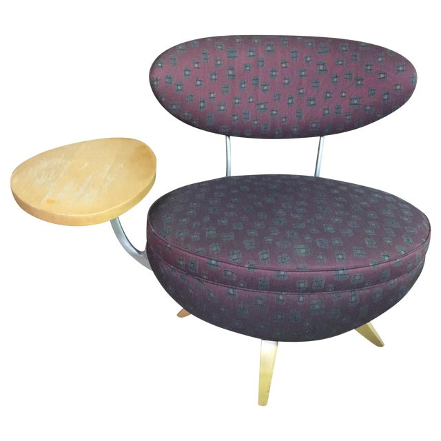 Image of Mid-Century Chair With Arm Table