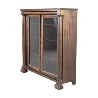 Hardwood and Glass Bookshelf