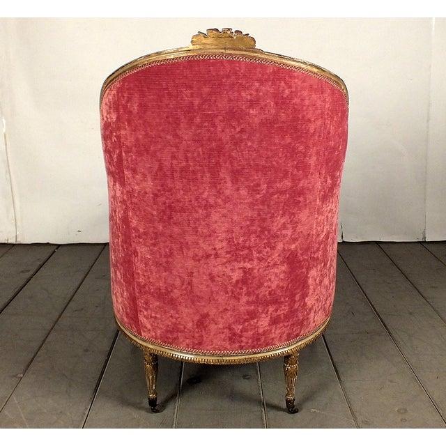 19th C. Style Giltwood Gondola Chaise Lounge - Image 10 of 10