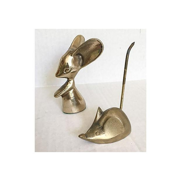 Mid-Century Brass Mouse Collection - Set of 5 - Image 4 of 5