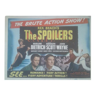 1942 The Spoilers Lobby Cards - Set of 8