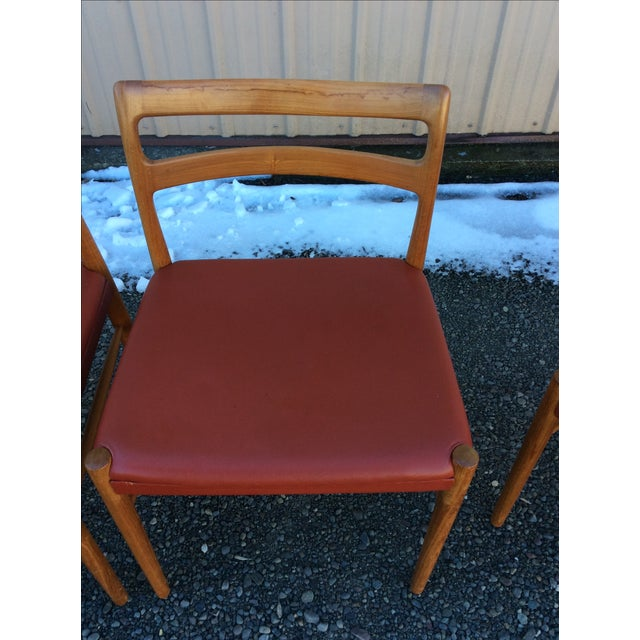 Danish Modern Teak Dining Chairs - Set of 6 - Image 9 of 10