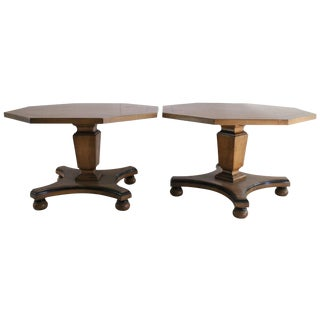 Hexagonal Taboret Side Tables - A Pair