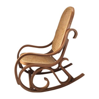 Vintage Bentwood & Cane Child's Rocking Chair