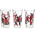 Image of Eight Flamenco Dancer Glasses With Carrier