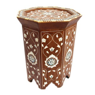 Moroccan Inlay Side Table