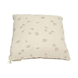 Barbara Beckmann Leaf Print Linen Pillows- Pair