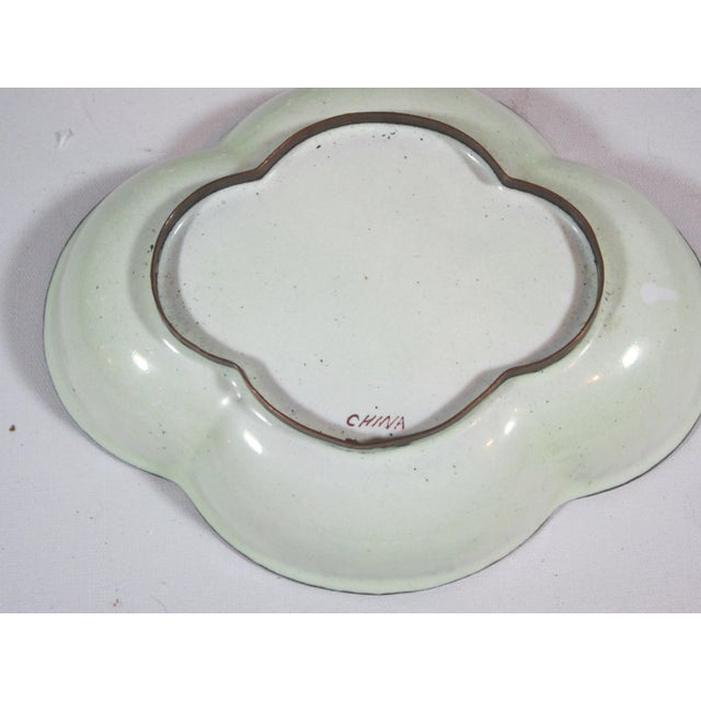 Floral Chinese Enamel Bowls - Set of 4 - Image 9 of 9