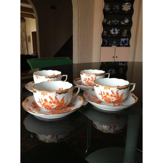 Herend Fortuna Pattern Tea Set - Set of 7 - Image 11 of 11
