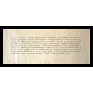 Joseph Kosuth Print - James Joyce/Michiko Ichimure