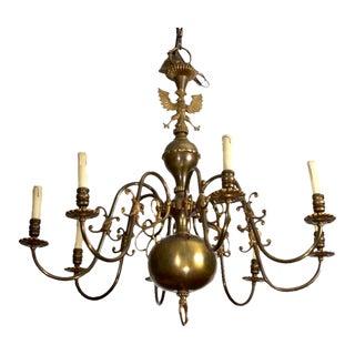 Dark Bronze Dutch Baroque Style Eight Light Chandelier