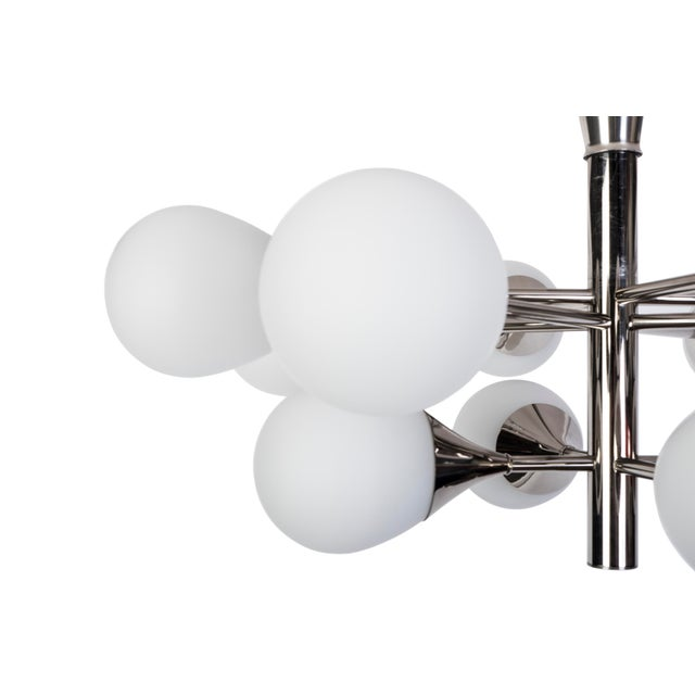 Exceptional Orbital Form Sputnik Chandelier - Image 3 of 6