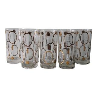 Vintage Tennis Glasses - Set of 8