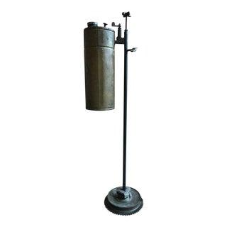 Antique Industrial Steampunk Gas Tank Lamp