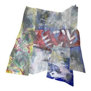 "Jessalin Beutler ""Linen Collage 1"" Painting"