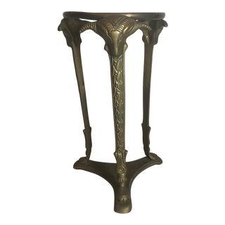 Brass Ram Heads Pedestal