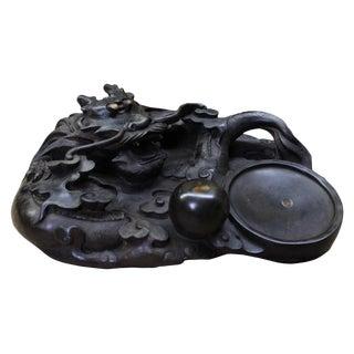 Chinese Oriental Black Dimensional Dragon Ink Pad Display