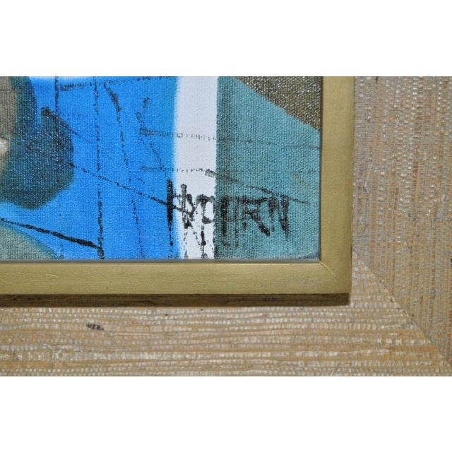 Mid-Century Modern Abstract Lighthouse Painting - Image 3 of 5