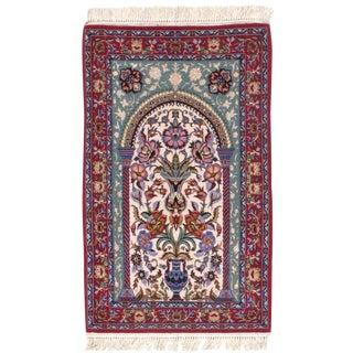 """Pasargad N Y Fine Persian Isfahan Silk & Wool Mehrab Design Rug - 2'5"""" X 3'10"""""""