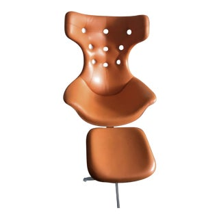 Poltrona Frau Regina II Chair & Ottoman