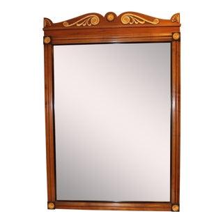Vintage Black & Gold Wood Frame Wall Mirror Ornate Hollywood Regency Mission