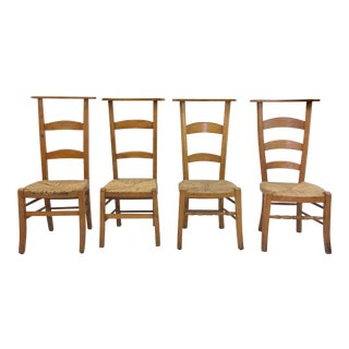Antique Wooden Shaker Style School Chairs - Set of 4