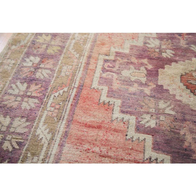 "Distressed Oushak Runner - 4'4"" x 11'9"" - Image 4 of 8"