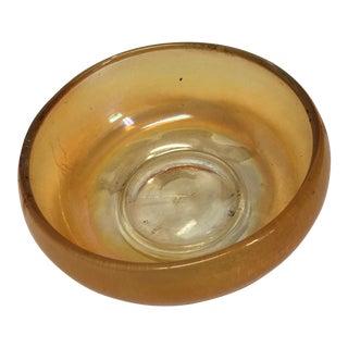 Iridescent Orange Glass Bowl