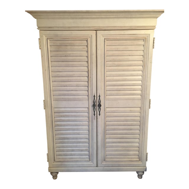 Image of Tommy Bahama Louvered Door Armoire