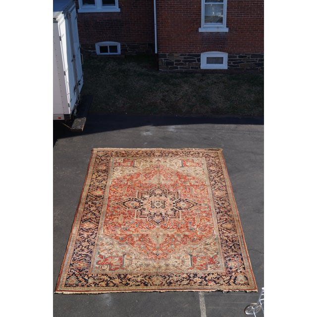 Antique Hand Woven Persian Heriz Rug - 11′6″ × 16′8″ - Image 3 of 10