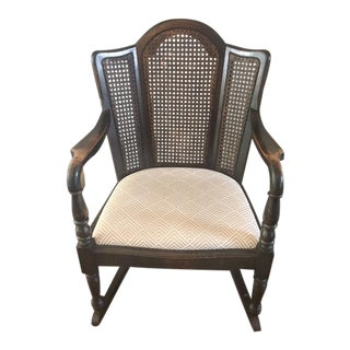 Early 20th Century Cane Rocking Chair