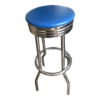 Metal Blue Seat Bar Stool