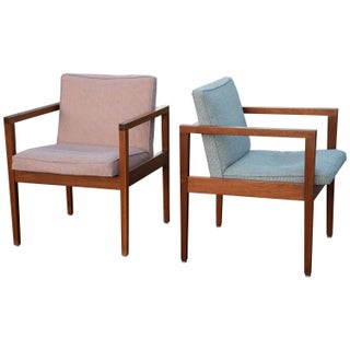 Mid-Century Modern George Nelson Armchairs - Pair