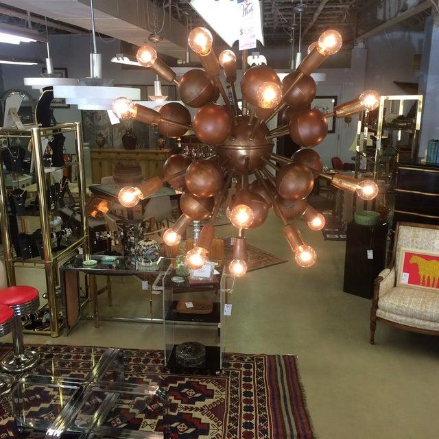 Vintage Brass Sputnik 20 Light Chandelier - Image 5 of 8
