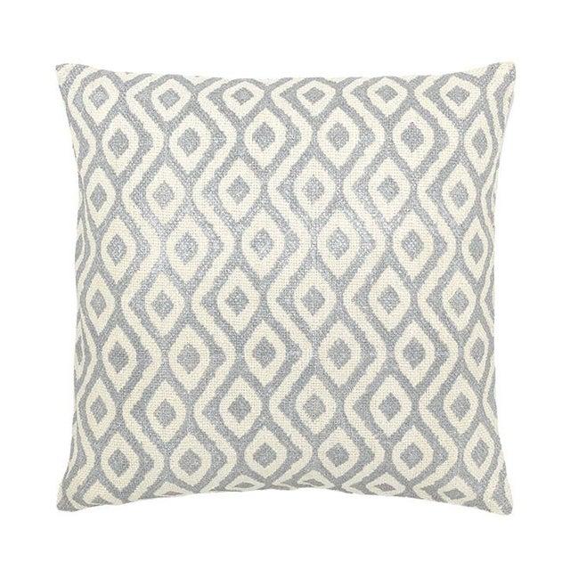 Image of Bora Bora Large Silver Decorative Pillow