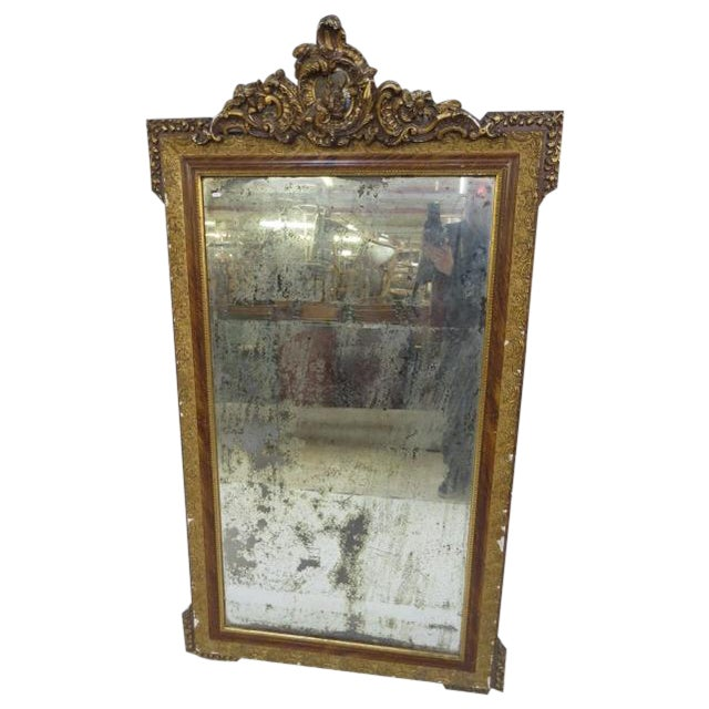 Antique Gilded Mirror - Image 1 of 7