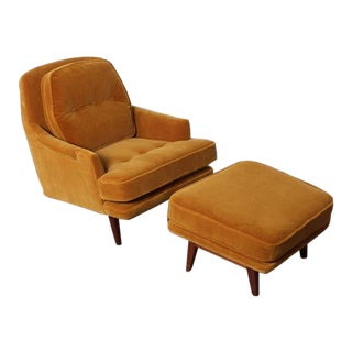 Lounge Chair and Ottoman by Dunbar