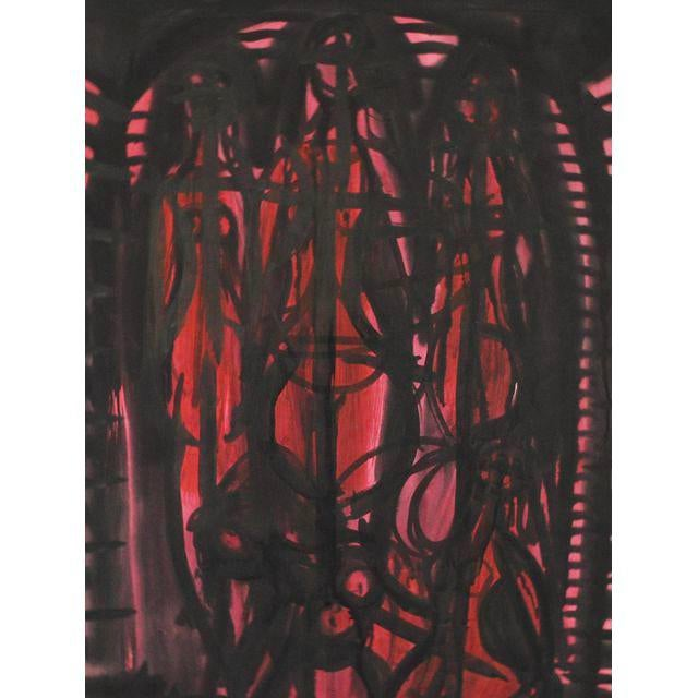 1952 Abstract Figurative Painting by Robert Gilberg - Image 2 of 4