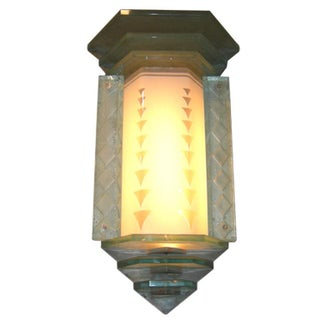 Glamorous Art Deco Glass Wall Sconce Lamp