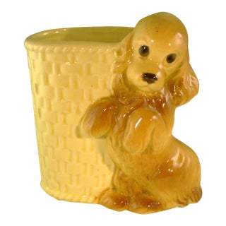 Vintage Mid-Century Ceramic Dog Planter