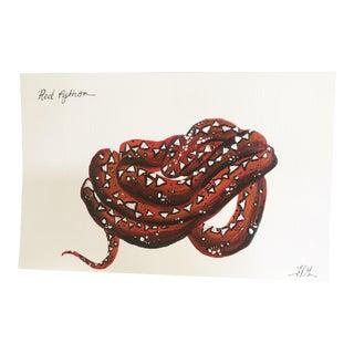 Red Python No. 1 Original Painting