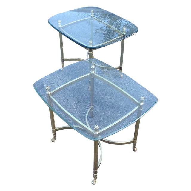 Brass Labarge Hollywood Regency Side Tables a Pair - Image 1 of 6