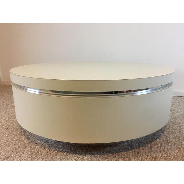 White Laminate Coffee Table Chairish