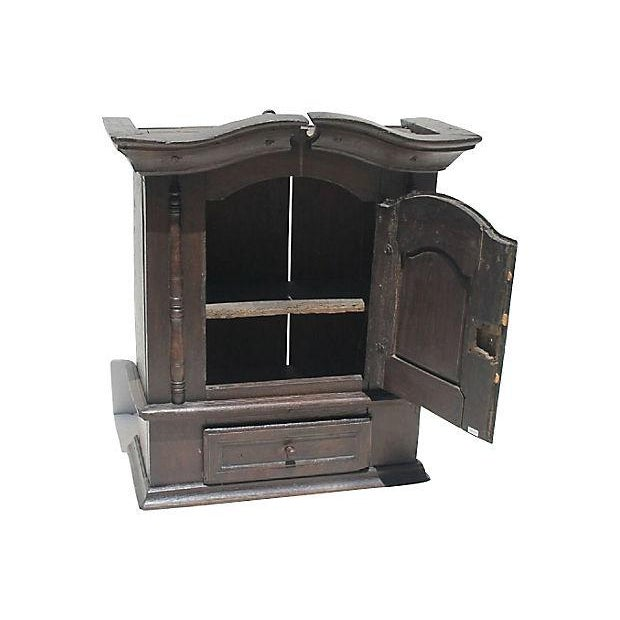 1690 Antique English Jacobean Wall Cupboard - Image 2 of 4
