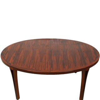 Danish Modern Rosewood Oval Expanding Table