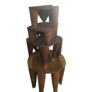 Nupe African Wooden Stools