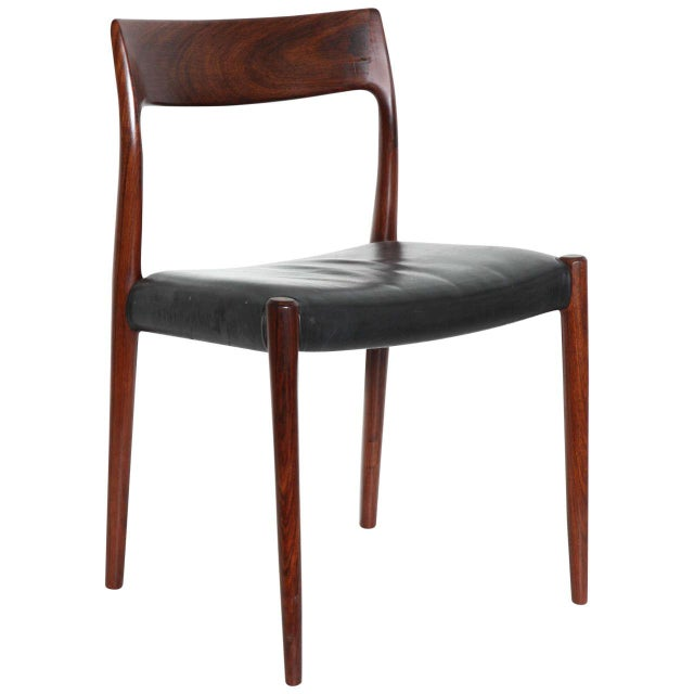 Niels moller 75 dining chairs leather set of 10 chairish for Dining chairs for less