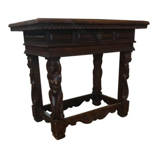 Antique Walnut Side Table, circa 1780