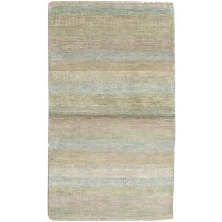 "Tonal Stripe Hand Knotted Area Rug - 3'1"" X 5'2"""