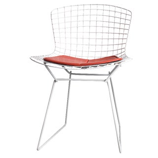 Knoll Bertoia White Wire Chair